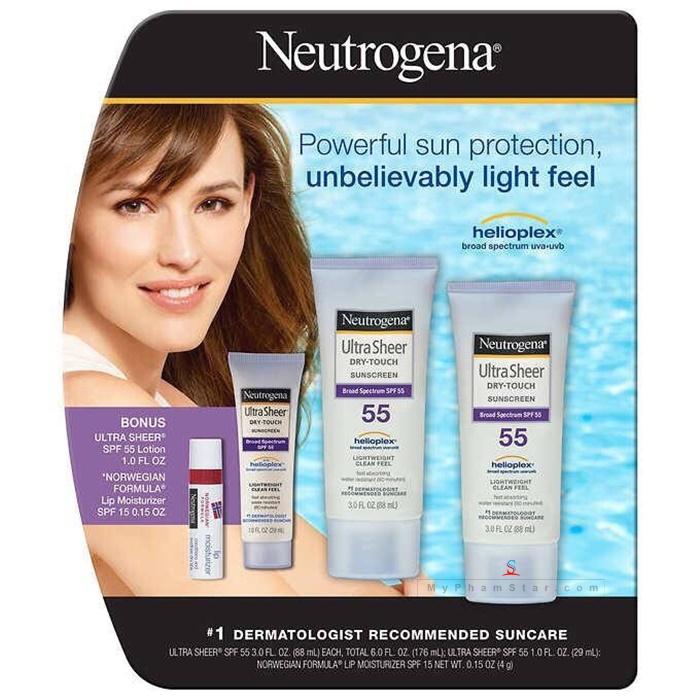 kem chống nắng Neutrogena Ultra Sheer Dry Touch SPF 55 - 88 ml 2