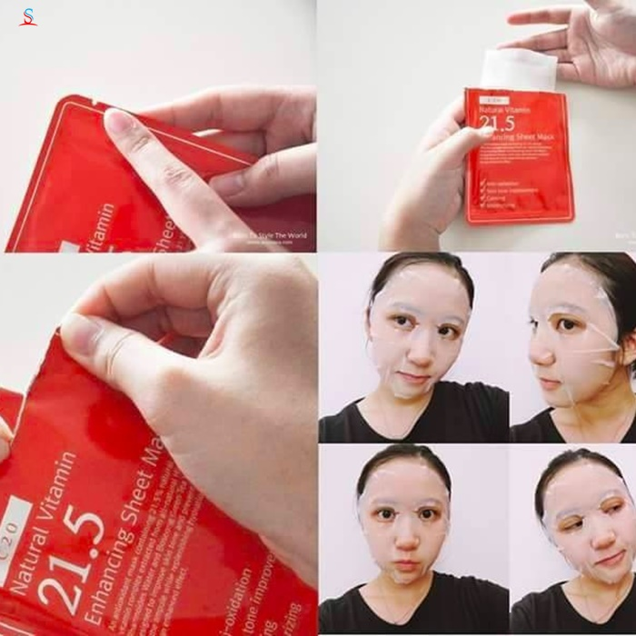 Mặt nạ giấy Natural Vitamin c21.5 Enhancing Sheet Mask 3
