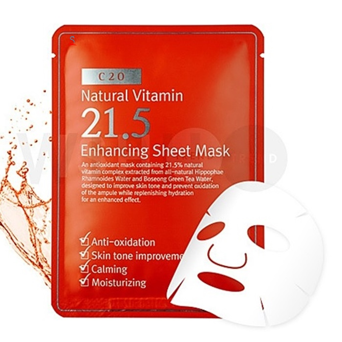Mặt nạ giấy Natural Vitamin c21.5 Enhancing Sheet Mask 1