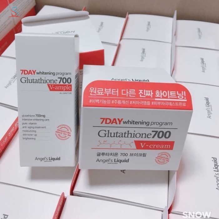Kem trắng da 7day Whitening Program Glutathione 700 V-ample 2