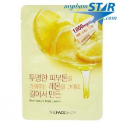 Bộ Mặt Nạ Chanh Real Nature Mask Lemon - The Face Shop