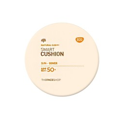 KCN Đa Năng BB Natural Sun Smart Cushion SPF 50+ PA +++ TheFaceShop