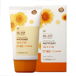 Kem Chống Nắng Natural Sun Oil Cut SPF40 PA++ The Face Shop
